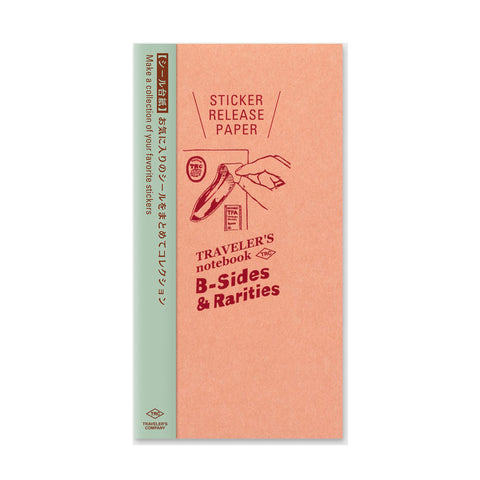 Traveler's Company B-Sides & Rarities - Traveler's Notebook Refill - Sticker Release Paper - Regular Size