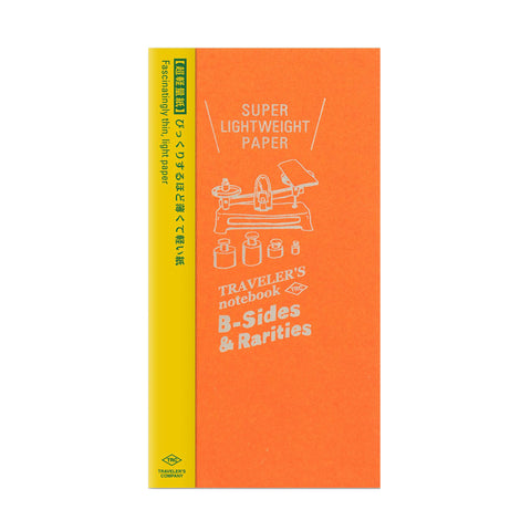 Traveler's Company B-Sides & Rarities - Traveler's Notebook Refill - Super Lightweight Paper - Regular Size