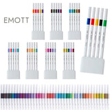 Uni EMOTT Sign Pen - 5 Colour Set - No.1 Vivid - 0.4 mm - Markers - bunbougu.com.au