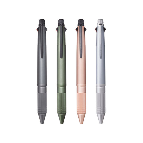 Uni Jetstream 4 & 1 Metal Grip Multi Pens - 4 Colours + Mechanical Pencil - 0.5 mm
