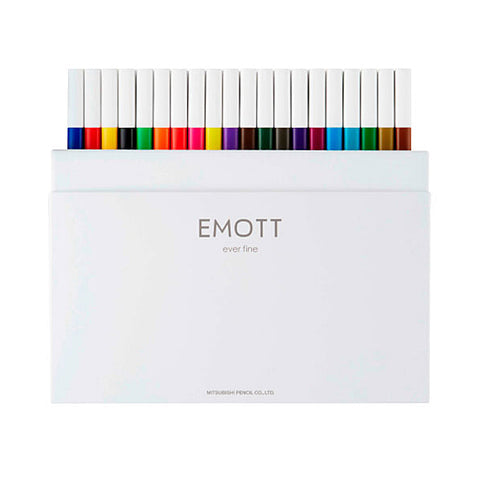 Uni EMOTT Sign Pen - 40 Colour Set - 0.4 mm - Markers - bunbougu.com.au