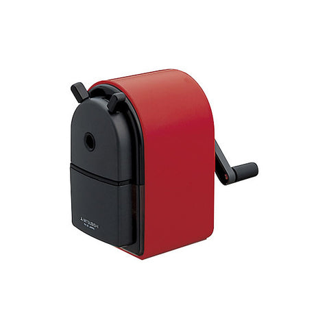 Uni KH-20 Hand Crank Pencil Sharpener - Red