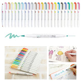 Zebra Mildliner Double-Sided Brush Pen - Fine/Brush Tip - 5 Colour Set - Brush Pens - bunbougu.com.au