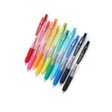 Zebra Sarasa Push Clip Gel Pen - 10 Color Set - 0.4 mm - Gel Pens - bunbougu.com.au