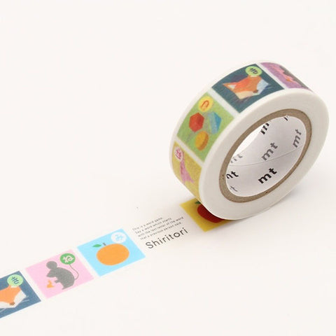 Mt Masking Tape - Shiritori - 15 mm x 7 m - Washi Tape - bunbougu.com.au