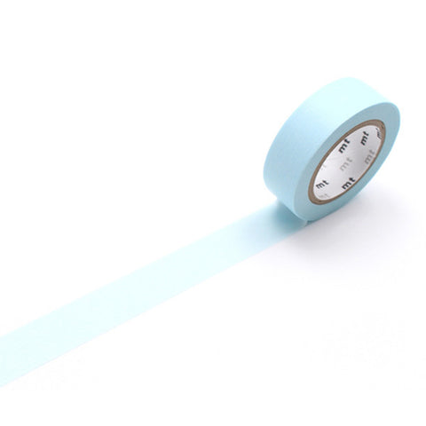 Mt Masking Tape - Pastel Powder Blue - 15 mm x 10 m - Washi Tape - bunbougu.com.au