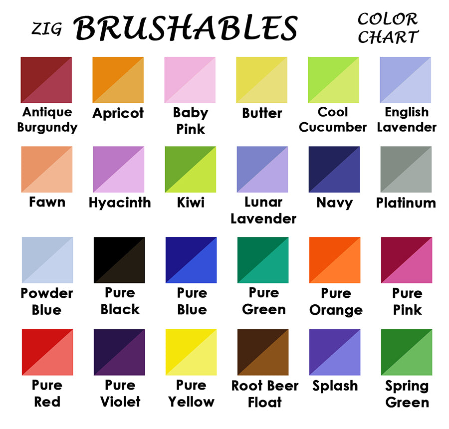 Kuretake Zig Brushables Brush Marker Pen - 24 Color Bundle - Brush Pens - bunbougu.com.au