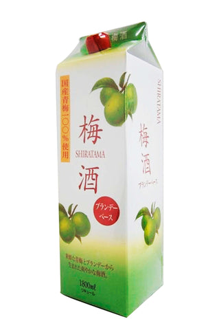 Shiratama Umeshu with Brandy Pack 12% 1.8L - singapore-sake