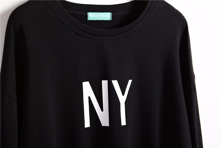 New York NY Cropped Pullover Sweatshirt | Shop Elettra |