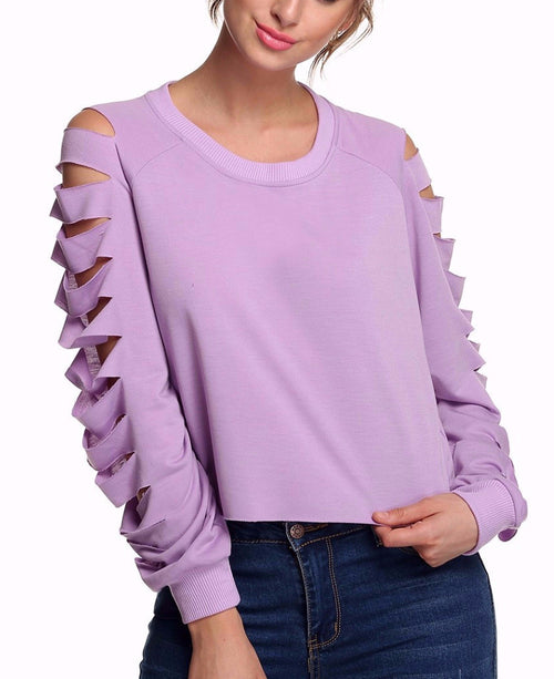 Zoon Cutout Cropped Pullover Sweatshirt | Shop Elettra |