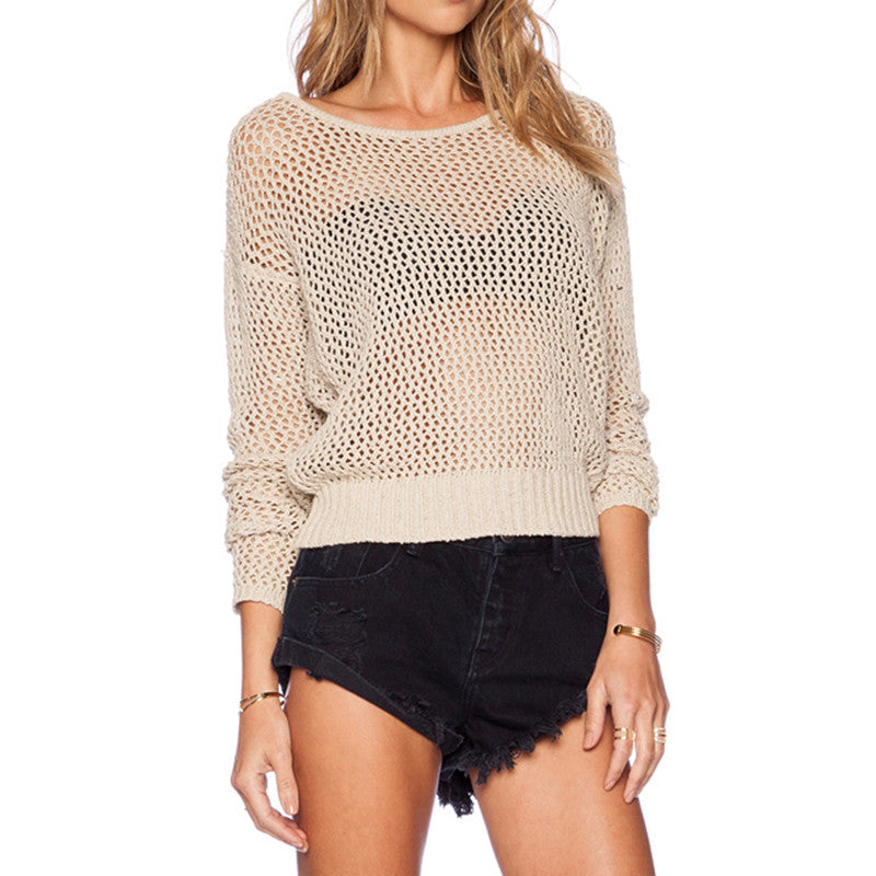 Staci Knit Open Back Cutout Pullover Sweater | Shop Elettra |
