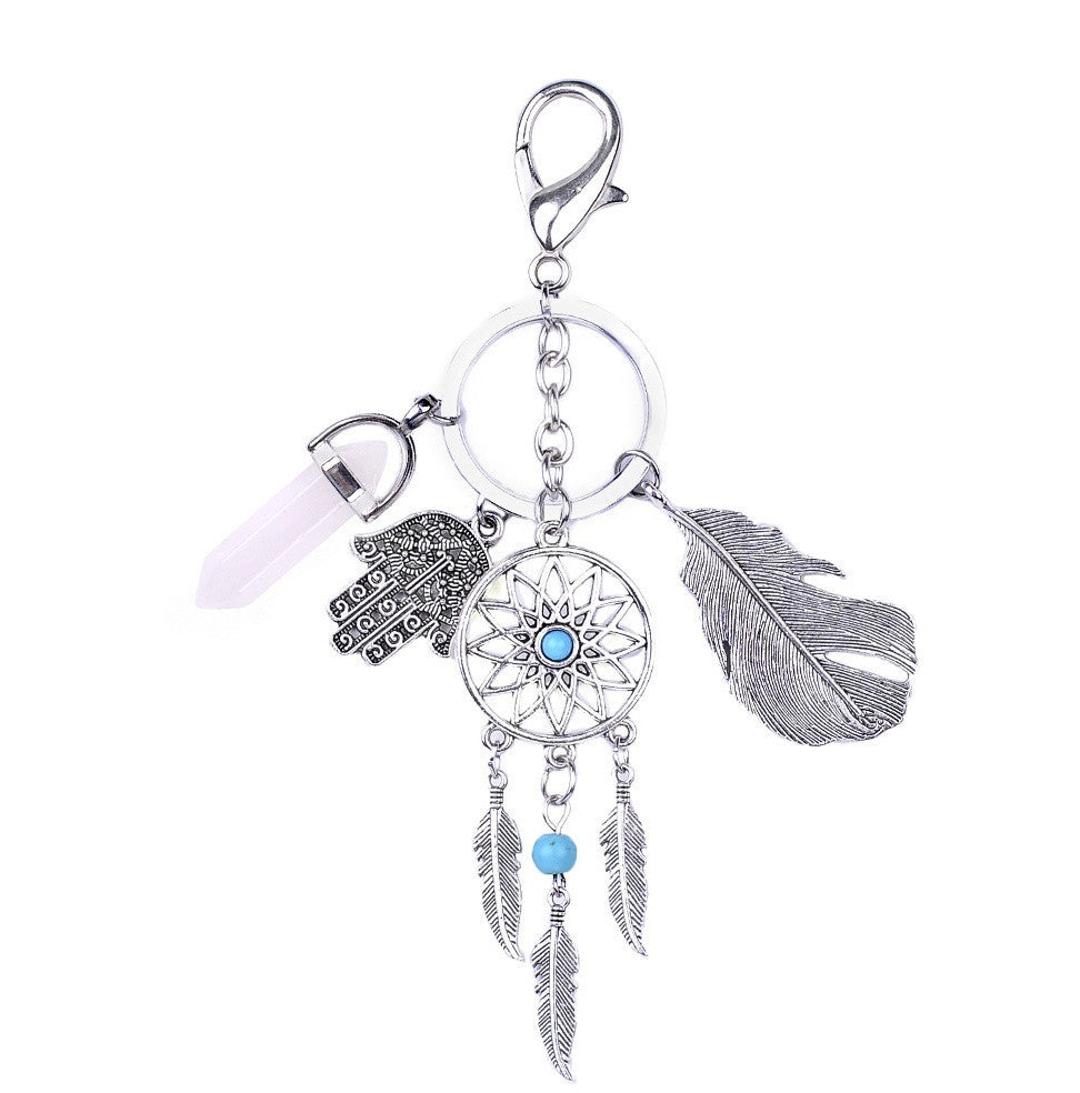 Metal Bae Feather Keychain | Shop Elettra |