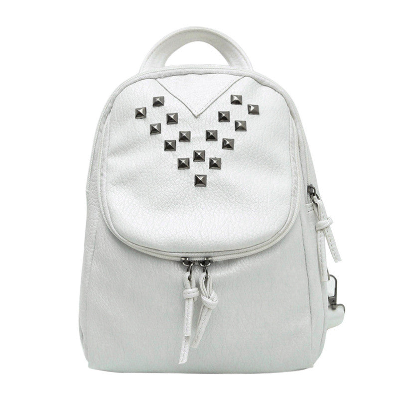 Studded Leather Backpack | Shop Elettra |