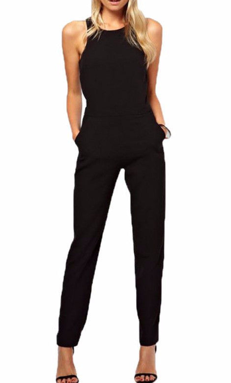 Sleeveless Jumpsuit in Black | Shop Elettra |