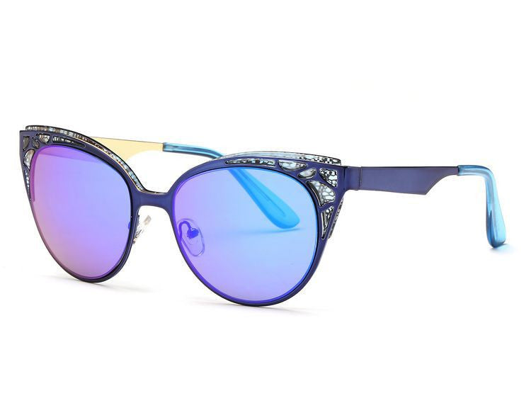 Missy Cat Eye Metal Frame Sunglasses | Shop Elettra |