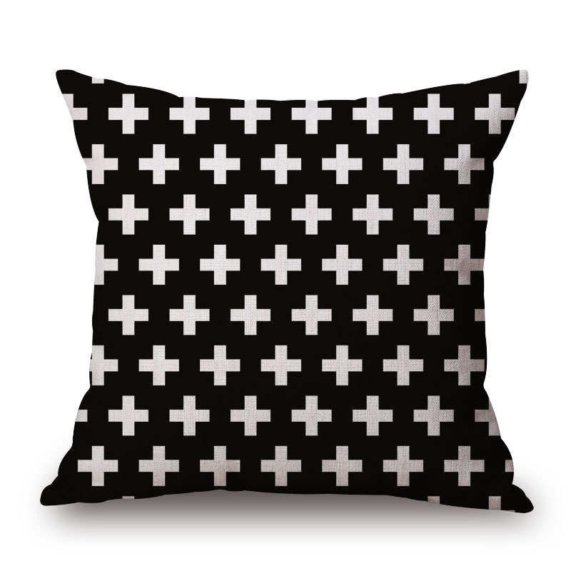 B&W 18 x 18 Pillow Cover | Shop Elettra |
