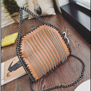 Leather Chain Shoulder Bag | Shop Elettra |