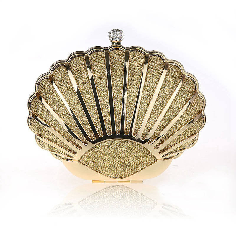 Mermaid Shell Clutch With Chain Strap | Shop Elettra |