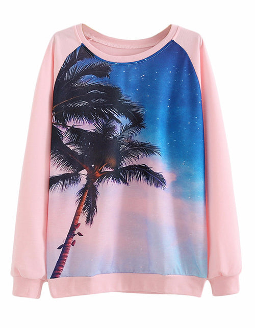 Palm Tree Pullover Sweatshirt | Shop Elettra |