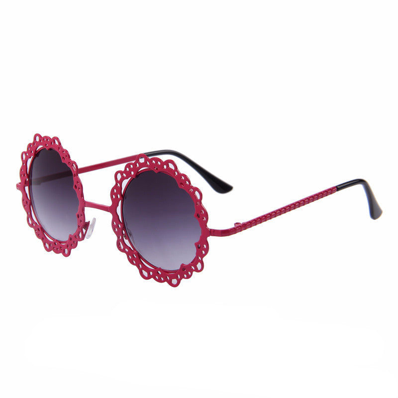 Bonnie Round Retro Sunglasses | Shop Elettra |
