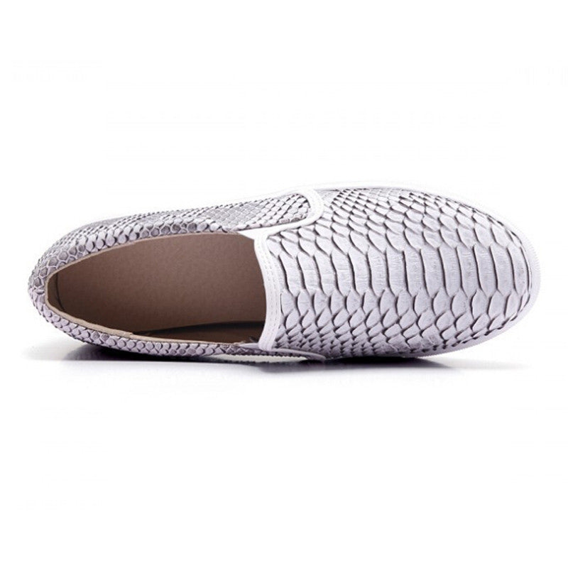 Snaked Out Python Slip On Shoes | Shop Elettra |