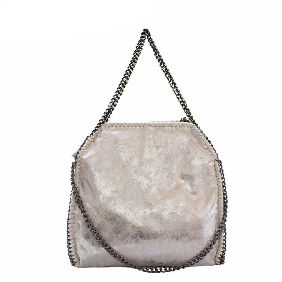 Oversized Chain Strap Shoulder Bag | Shop Elettra |