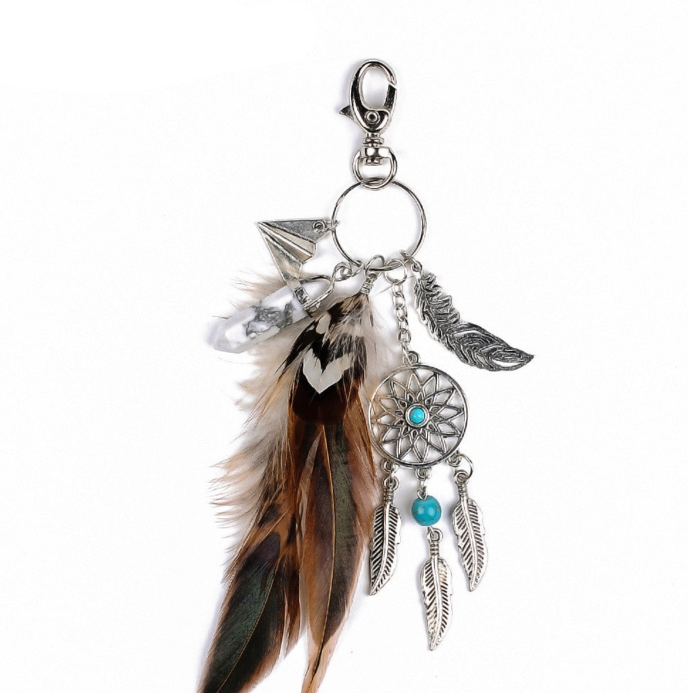 Boho'd Out Feather Keychain | Shop Elettra |