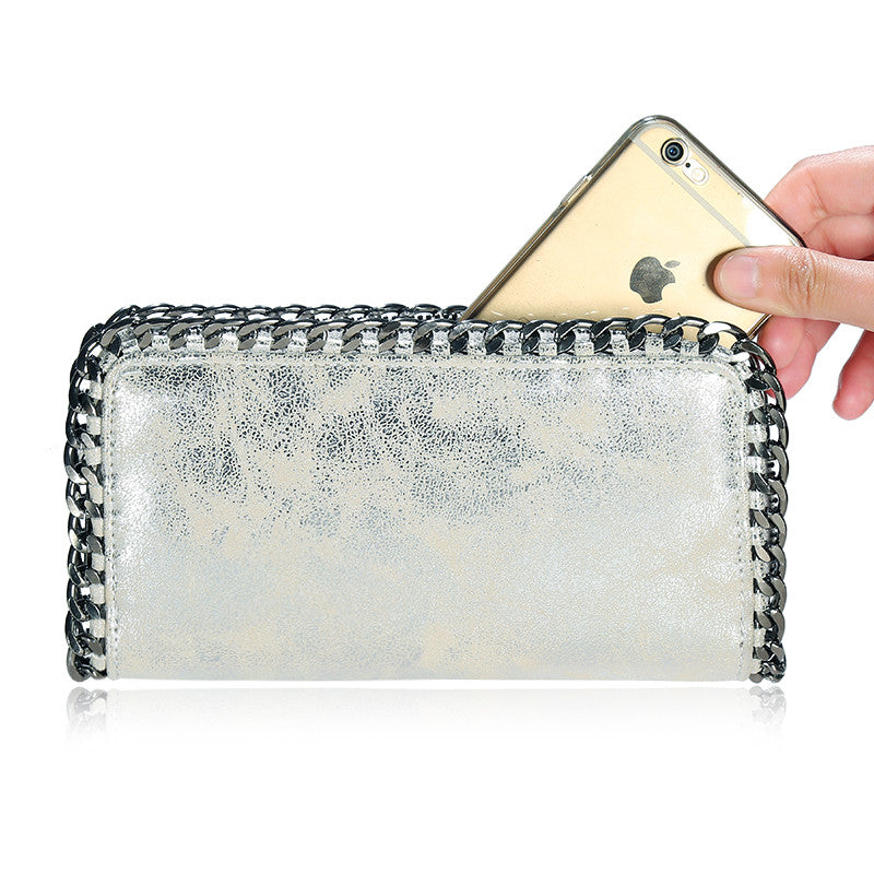 Metallic Wallet Clutch | Shop Elettra |