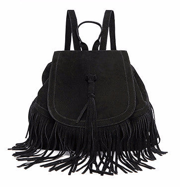 Fringe Suede Backpack | Shop Elettra |