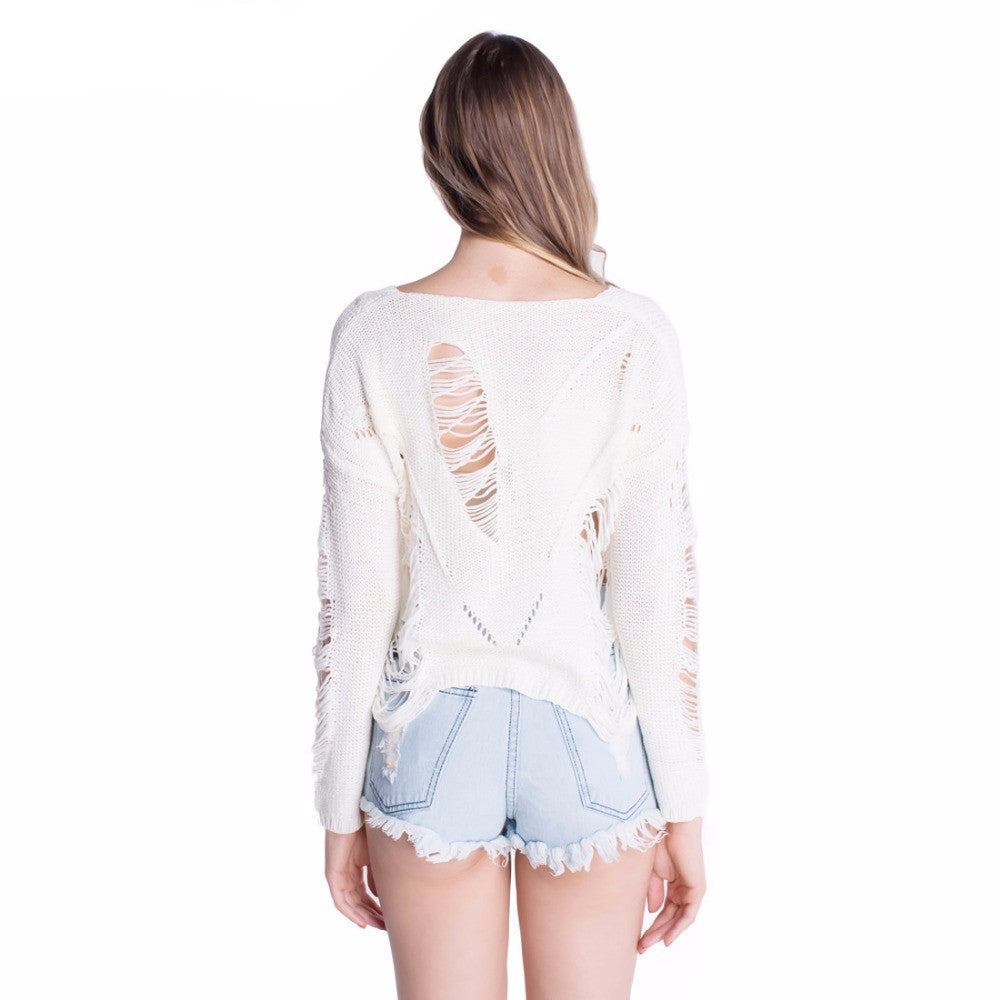 Shredded Knit Sweater | Shop Elettra |