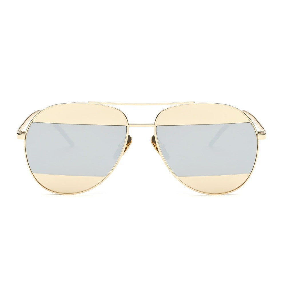 Perry Multi Coated Lense Aviator Sunglasses | Shop Elettra |