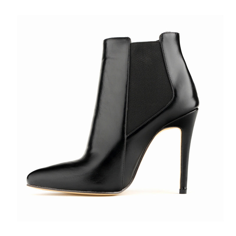 Leather Stiletto Ankle Boots | Shop Elettra |