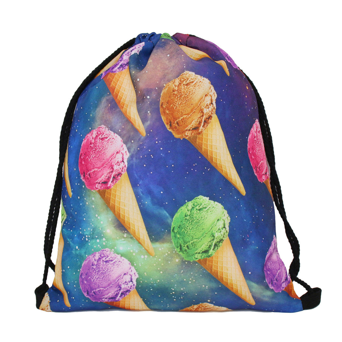 Printed Drawstring Gym Backpack | Shop Elettra |