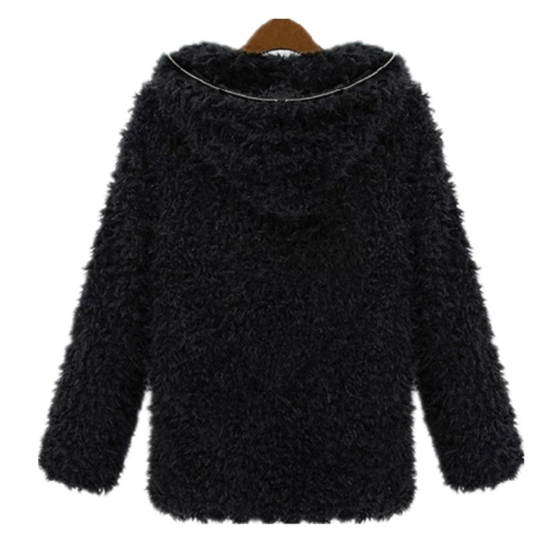 Poodie Faux Fur Hooded Jacket | Shop Elettra |