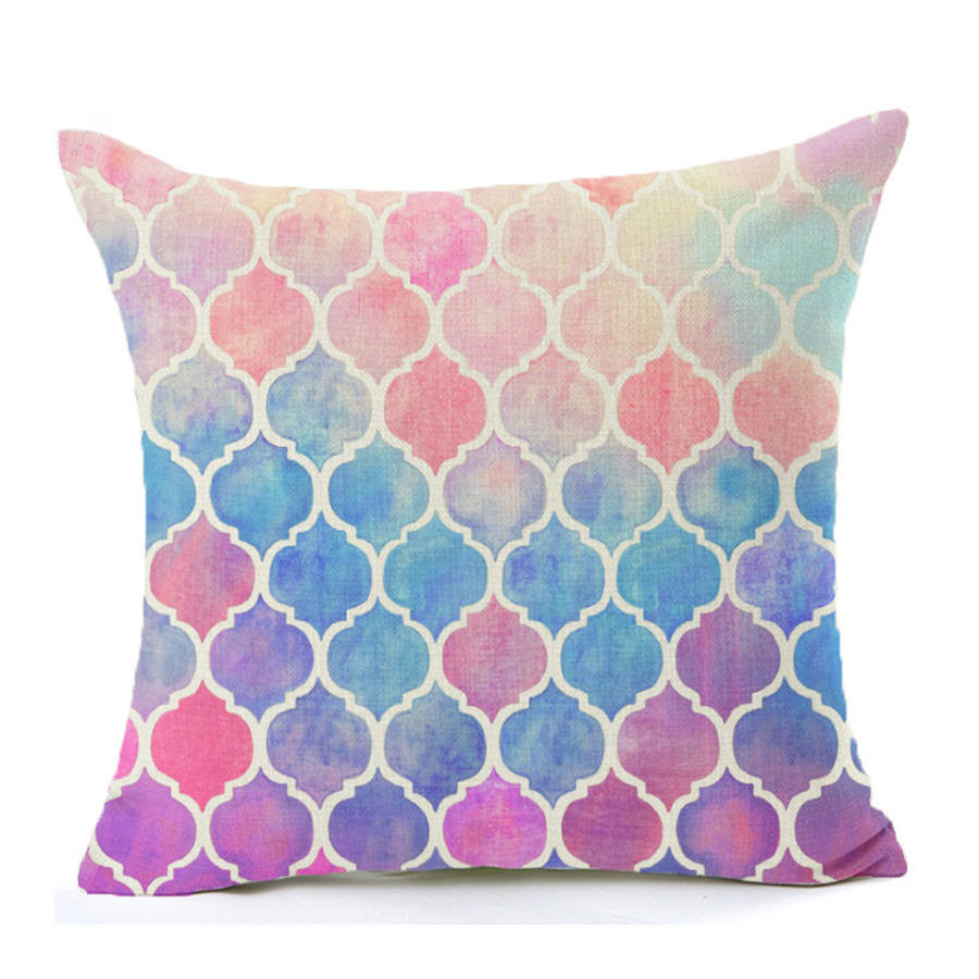 Geometric Watercolor Throw Pillow Cover | Shop Elettra |