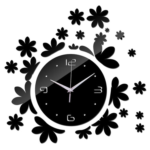 Flower Mirrored Wall Clock | Shop Elettra |