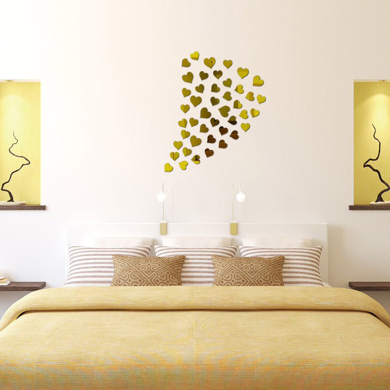Love Always Heart Mirror Wall Decals | Shop Elettra |