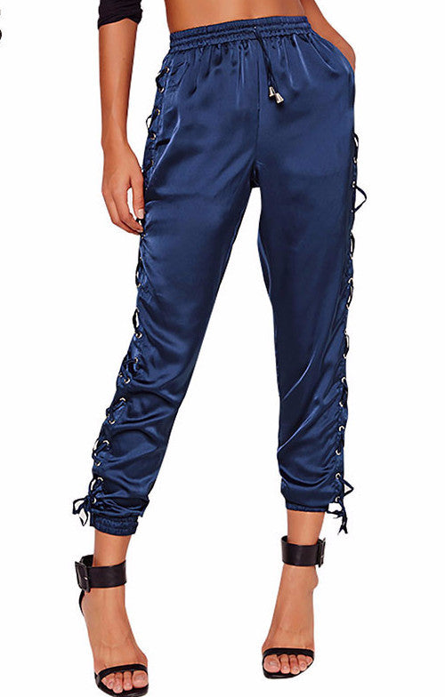 Lace Up Jogger Pants | Shop Elettra |
