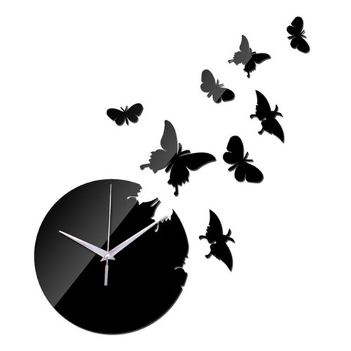 Butterfly Mirrored Wall Clock | Shop Elettra |