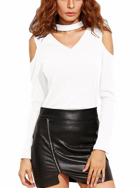 Marni Cutout Choker Long Sleeve Top | Shop Elettra |