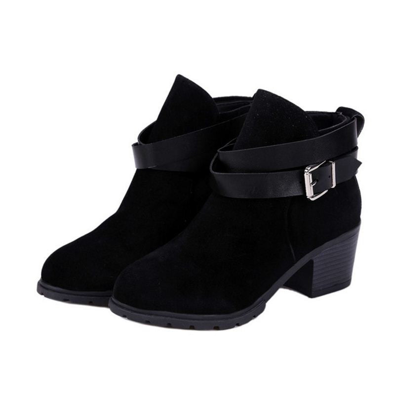 Wrap Buckle Ankle Boots | Shop Elettra |