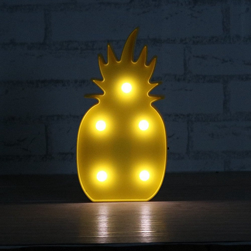 Pineapple Marquee Sign LED Lamp | Shop Elettra |