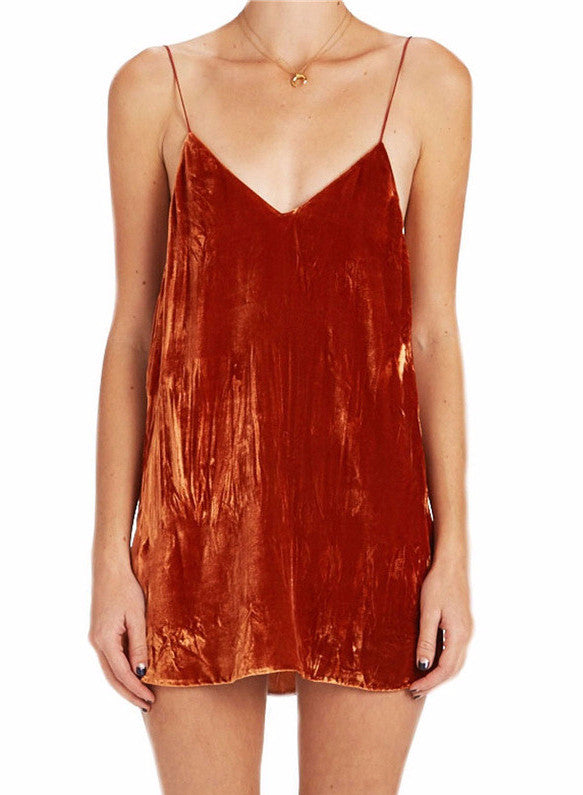 Marni Velvet Deep V Slip Dress | Shop Elettra |