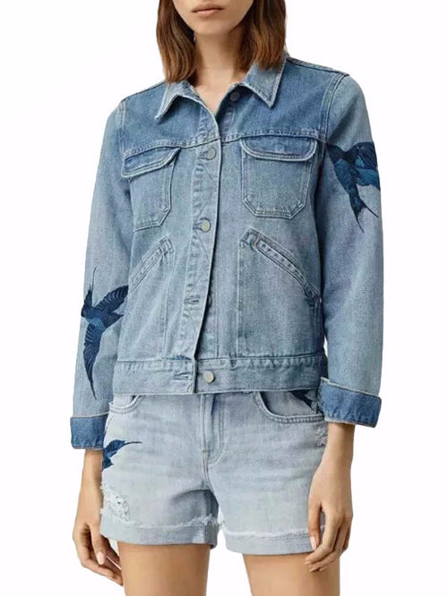 Venya Free Bird Denim Jacket | Shop Elettra |