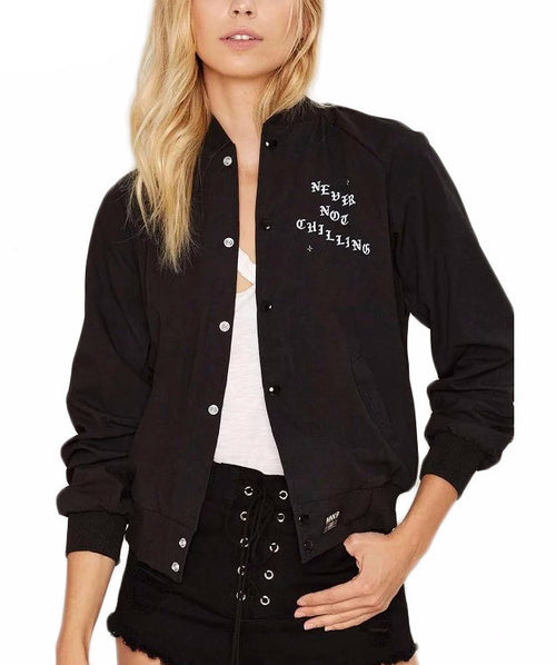 Never Not Chilling Bomber Jacket | Shop Elettra |