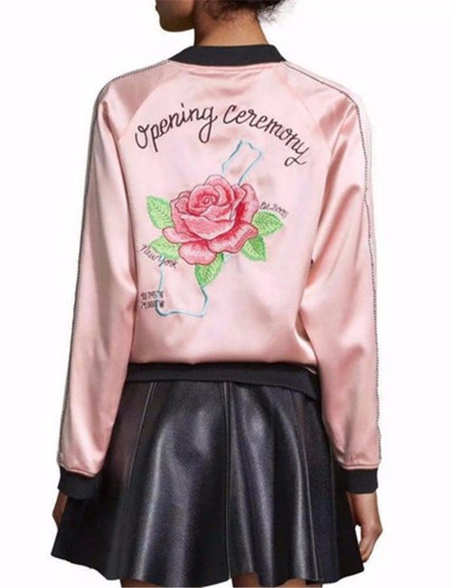 Opening Ceremony Rose Pink Bomber Jacket | Shop Elettra |