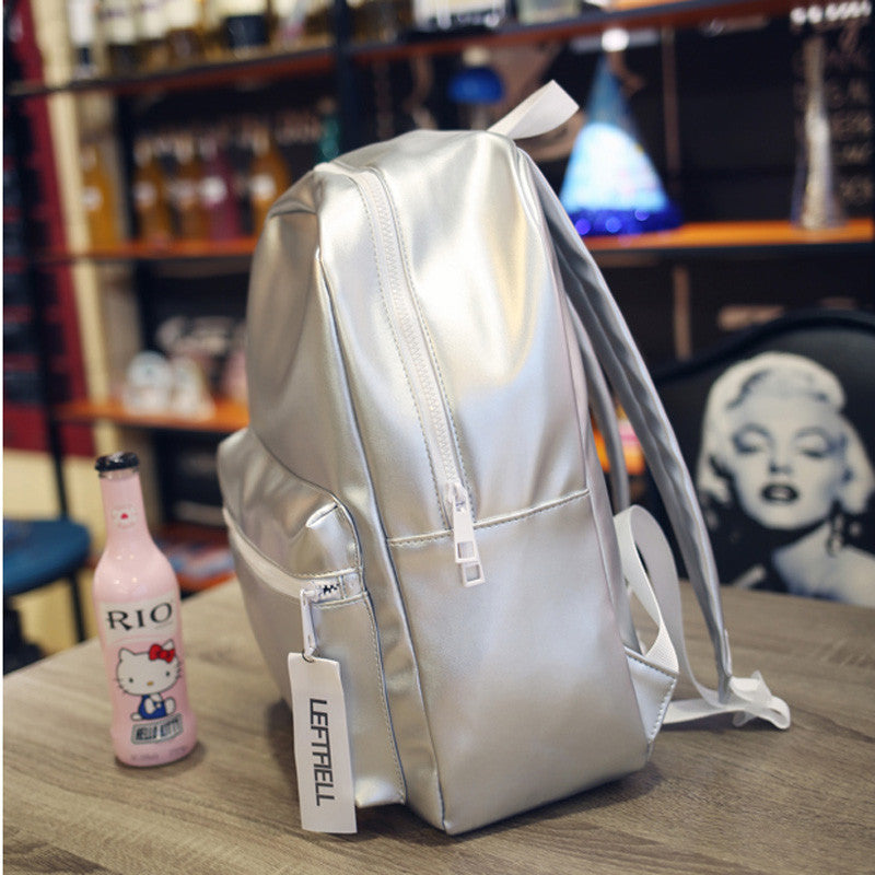 Silver Metallic Holographic Backpack | Shop Elettra |