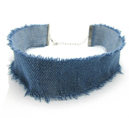 Denim Choker Necklace | Shop Elettra |