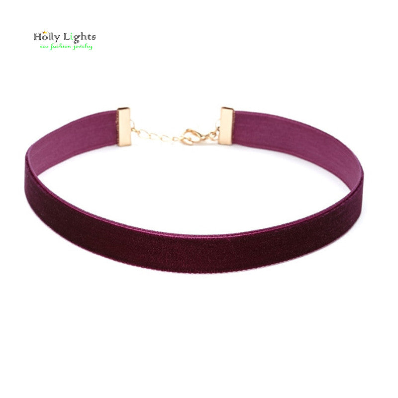 Marina Velvet Choker Necklace | Shop Elettra |