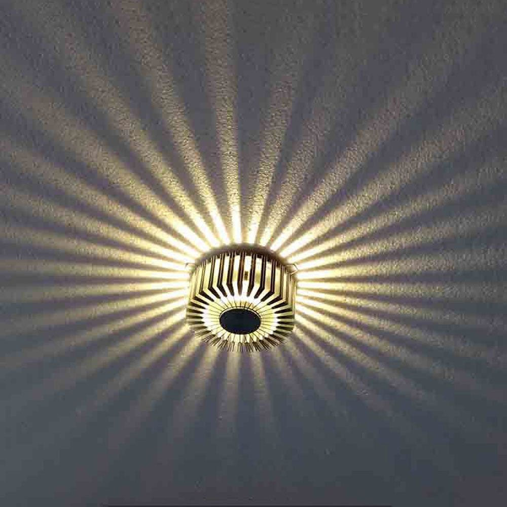 Misha Modern Aluminum Sun Flower LED Lamp | Shop Elettra |